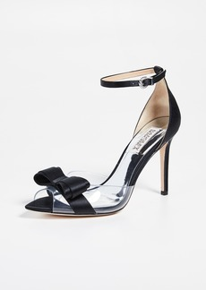Badgley Mischka Lindsay Vinyl Ankle Strap Sandals