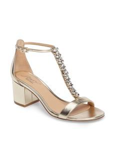 Badgley Mischka Lindsey Embellished T-Strap Sandal (Women)