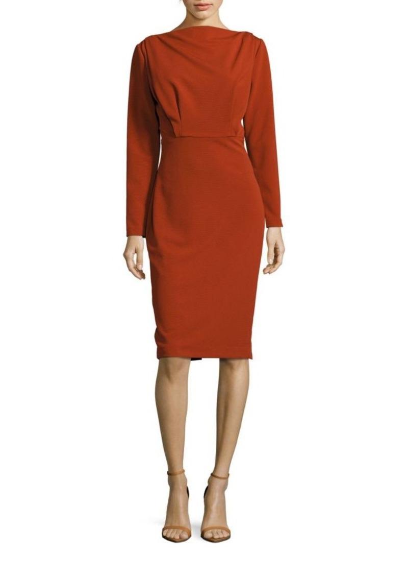 Badgley Mischka Long Sleeve Blouson Dress
