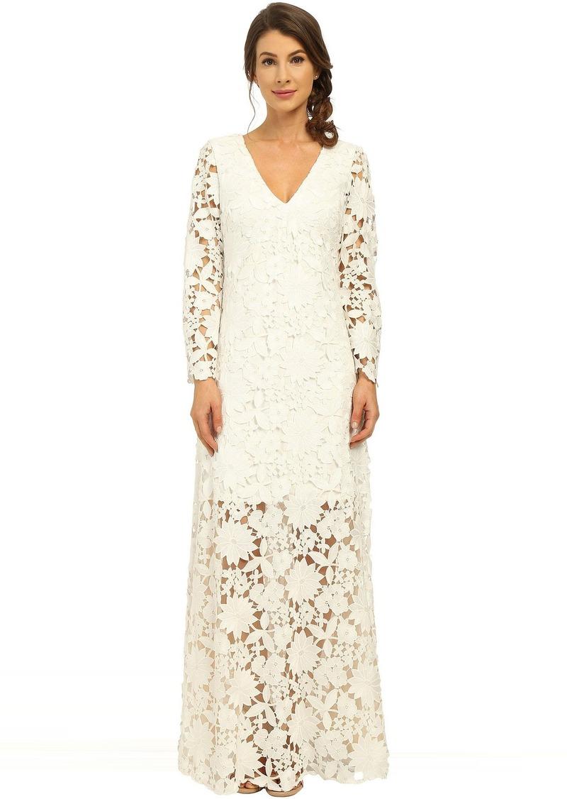 On Sale today! Badgley Mischka Badgley Mischka Long Sleeve Lace Gown