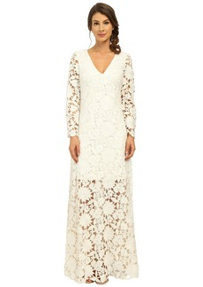 Badgley Mischka Long Sleeve Lace Gown