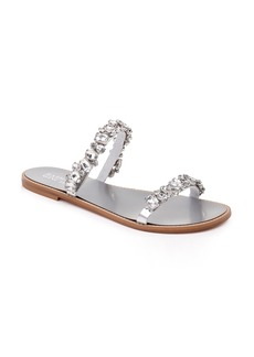 Badgley Mischka Loveday Crystal Embellished Slide Sandal (Women)