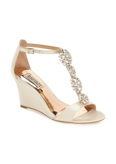 Badgley Mischka 'Lovely' Embellished Wedge Sandal (Women)
