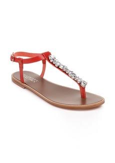Badgley Mischka Lucia Crystal Embellished Sandal (Women)
