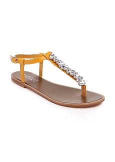 Badgley Mischka Lucia Crystal Embellished Sandal (Women)