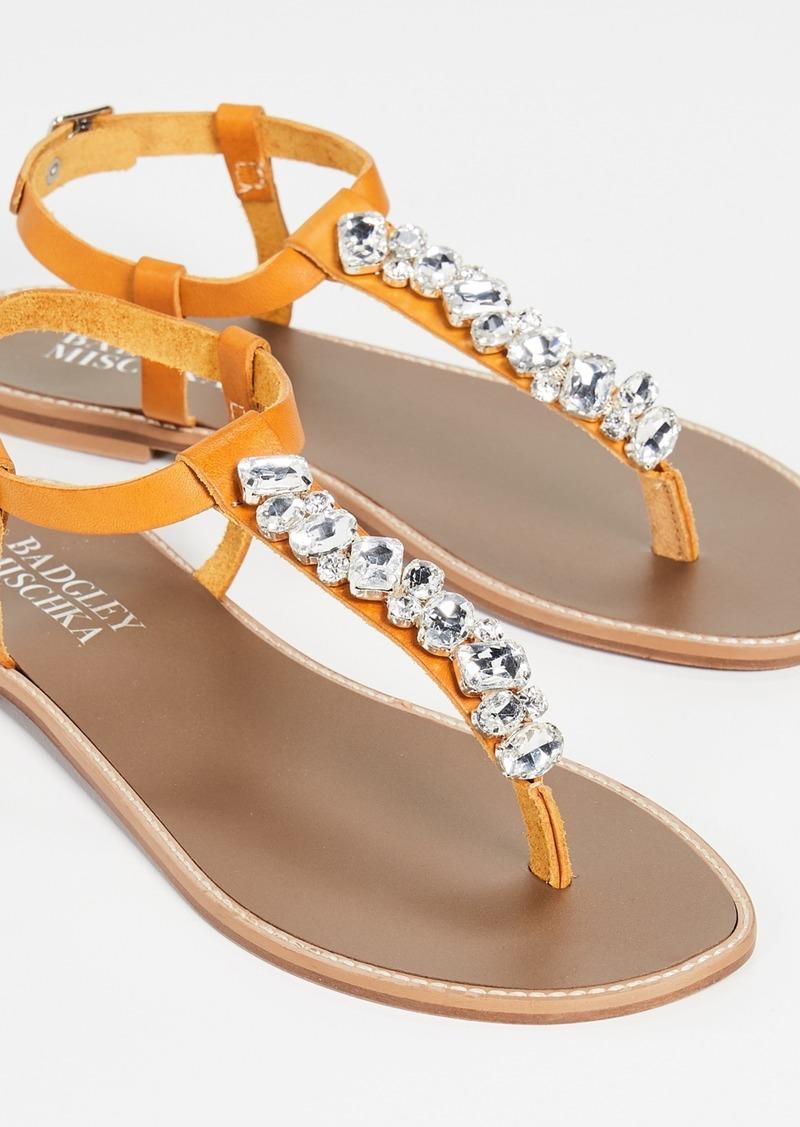 Badgley Mischka Lucia T-Strap Sandals