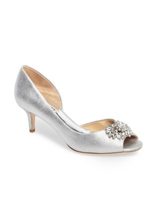Badgley Mischka Macie Peep Toe d-Orsay Pump (Women)