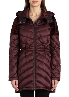 Badgley Mischka Mallory Quilted Puffer Coat