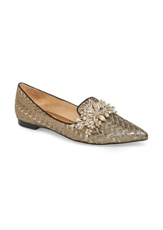 Badgley Mischka Mandy Embellished Loafer Flat (Women)