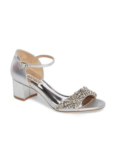 Badgley Mischka Mareva Ankle Strap Block Heel Sandal (Women)