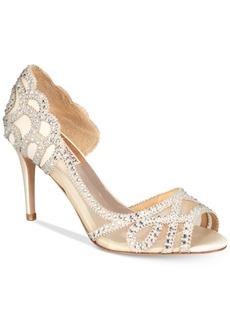 Badgley Mischka Marla Embellished Peep-Toe Evening Pumps, Created for Macy's Women's Shoes