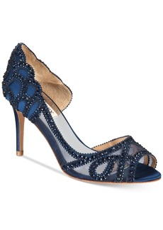 Badgley Mischka Marla Embellished Peep-Toe Evening Pumps, Created for Macy's Women's Shoes
