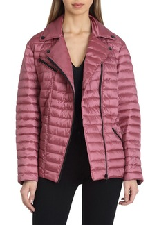 Badgley Mischka Mia Puffer Biker Jacket