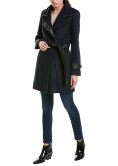 Badgley Mischka Millie Wool-Blend Coat