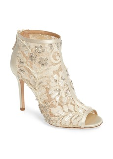 Badgley Mischka Moyra Embellished Lace Bootie (Women)