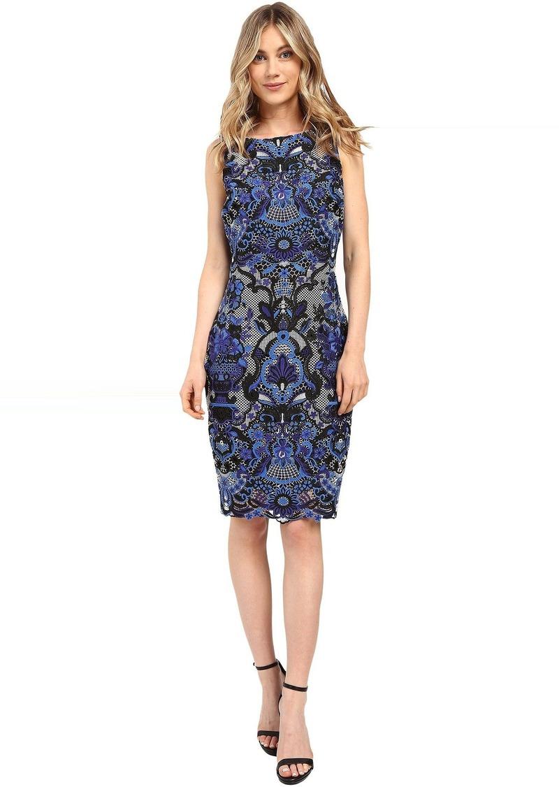 Badgley Mischka Multicolor Lace Shift   Dresses
