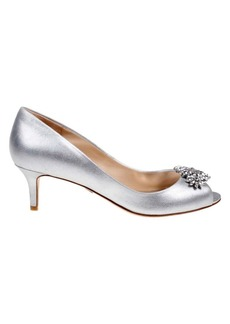 Badgley Mischka Nakita II Kitten Heel Peep Toe Pumps