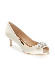 Badgley Mischka 'Nakita' Kitten Heel Peep Toe Pump (Women)
