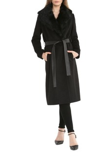Badgley Mischka Natasha Coat with Fur