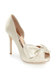 Badgley Mischka 'Niara' Peep Toe Pump (Women)