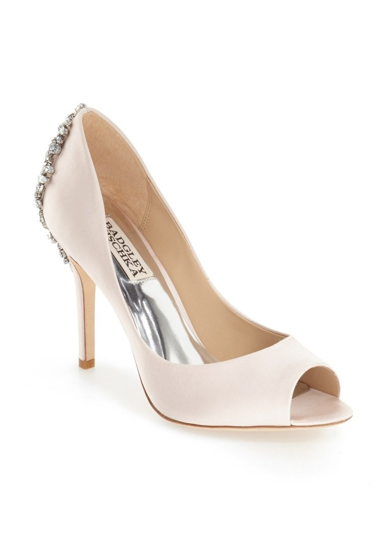 Badgley Mischka 'Nilla' Peep Toe Pump (Women)