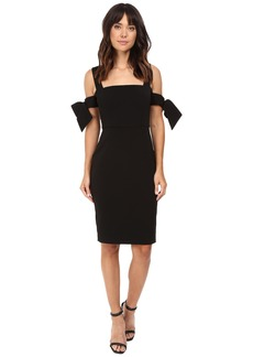 Badgley Mischka Off The Shoulder Bow Sleeve Cocktail Dress