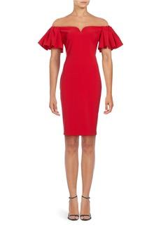 BADGLEY MISCHKA Off-The-Shoulder Sheath Dress