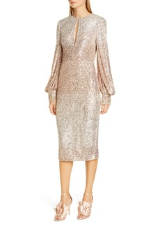 Badgley Mischka Ombré Sequin Cocktail Dress