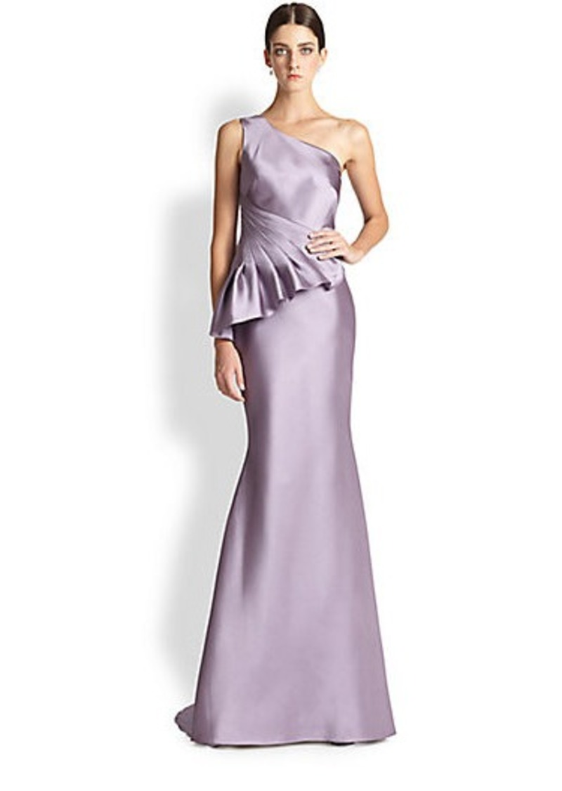 Perfect Badgley Mischka Rosalind Peplum Gown Image - Wedding and ...