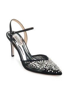 Badgley Mischka Opal Crystal Embellished Pointed Toe Pump (Women)