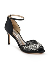 Badgley Mischka Collection Opera Crystal Embellished Ankle Strap Sandal (Women)
