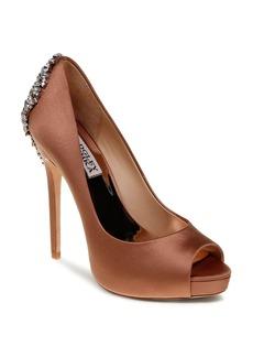 Badgley Mischka Peep Toe Platform Evening Pumps - Kiara High Heel
