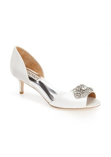 Badgley Mischka 'Petrina' Peep Toe d'Orsay Pump (Women)