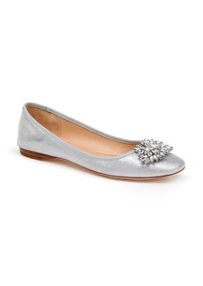 Badgley Mischka Pippa Crystal Foldable Flat (Women)