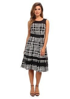 Badgley Mischka Plaid Print Combo Cocktail