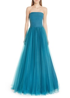 Badgley Mischka Collection Strapless Tulle Ballgown