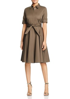 Badgley Mischka Poplin Fit-and-Flare Shirt Dress