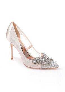 Badgley Mischka Quintana Crystal Embellished Pump (Women)