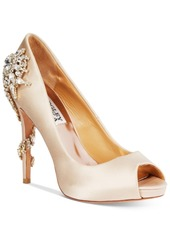 Badgley Mischka Royal Embellished Peep-Toe Evening Pumps Women's Shoes