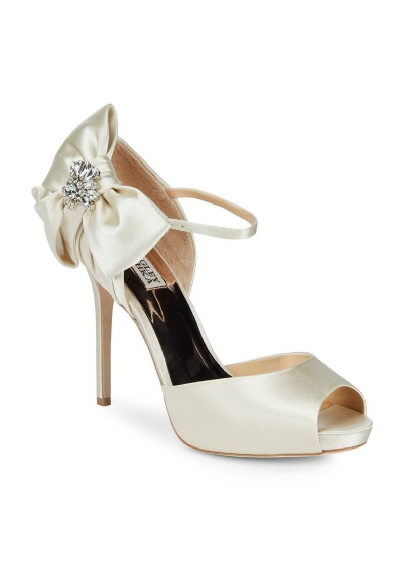 073c717da1f Badgley Mischka Badgley Mischka Samra Satin Peep Toe Pumps