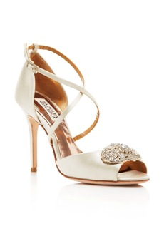 Badgley Mischka Sari Peep Toe Ankle Strap Pumps