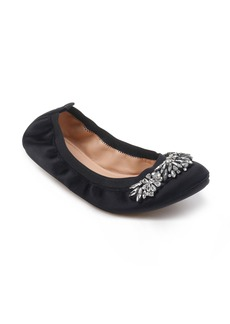 Badgley Mischka Sasha Embellished Flat (Women)