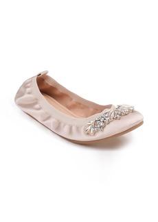 Badgley Mischka Sasha Embellished Flat (Women)