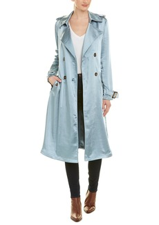 Badgley Mischka Satin Trench Coat
