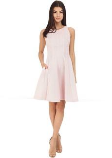 Badgley Mischka Seamed Flare Dress