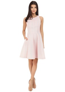 Badgley Mischka Seamed Flare Dress