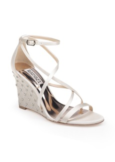 Badgley Mischka Shelly Strappy Wedge Sandal (Women)