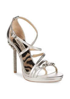 Badgley Mischka Sheri Metallic Crystal Heels