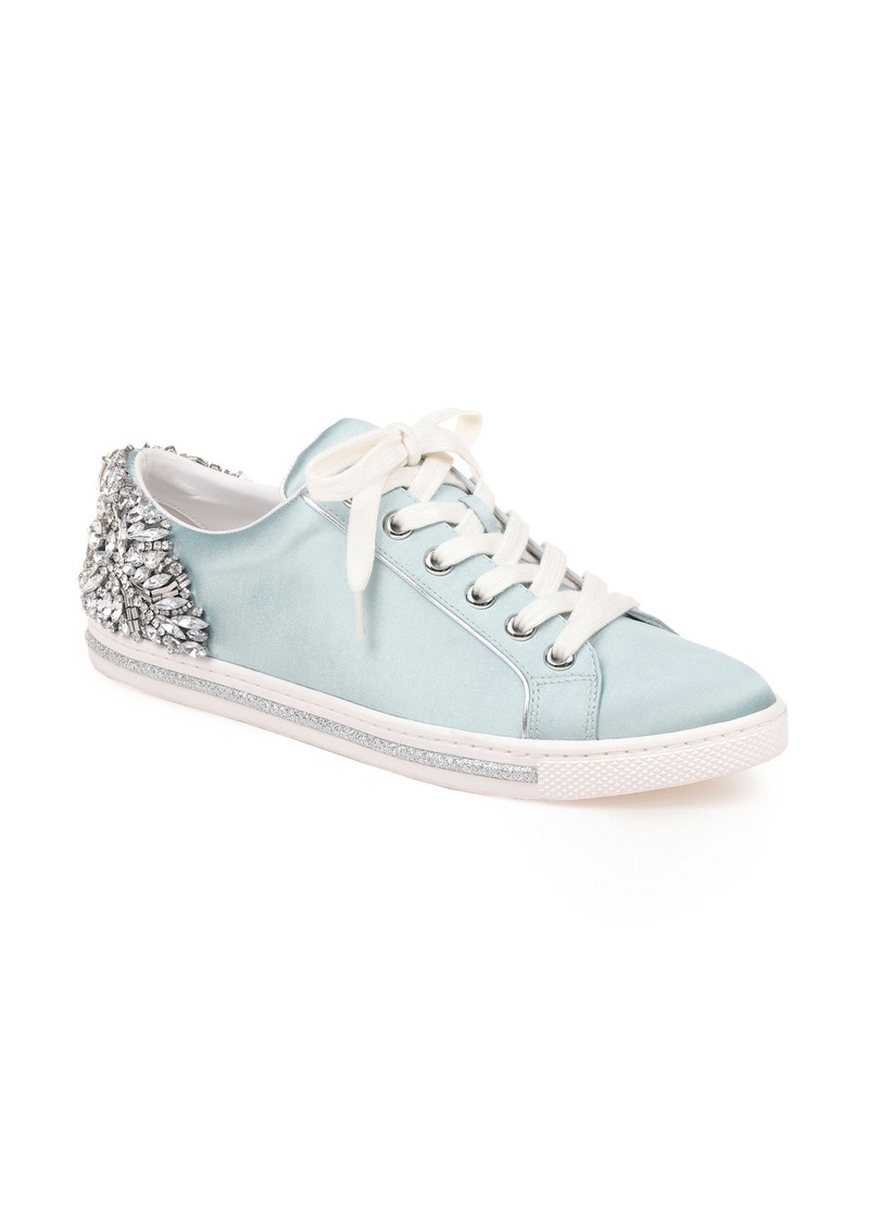 Badgley Mischka Shirley Crystal Embellished Sneaker (Women)