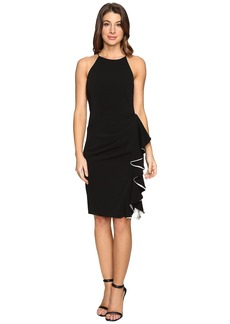 Badgley Mischka Short Ruffle Racer Dress